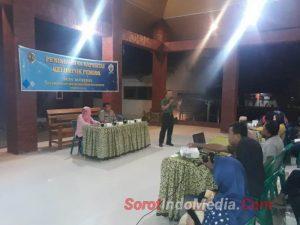 Danramil 0815/15 Jatirejo Bekali Wasbang Pemuda Desa Bleberan