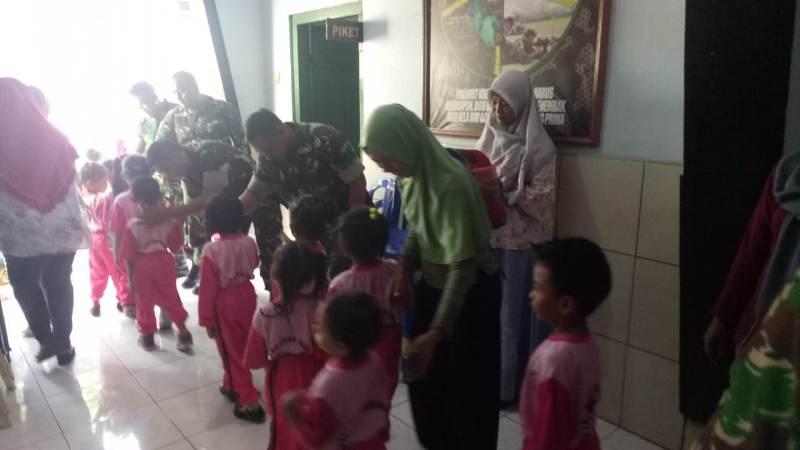 Koramil 14/Dlanggu Sasaran Kunjungan Edukasi TK Dharma Wanita