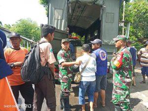 Banjir Tempuran, Kodim 0815/Mojokerto Siapkan Angkutan Untuk Pelajar & Bantu Distribusikan Logistik