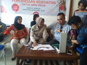 Peringati HPN 2020 ,24 Awak Media Cek Kesehatanya Di Polresta Mojokerto