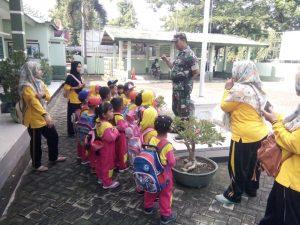 KB Darul Ulum Kunjungan Edukasi Ke Koramil Jetis