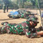 Ratusan Prajurit Kodim 0815/Mojokerto Dilatih Menembak