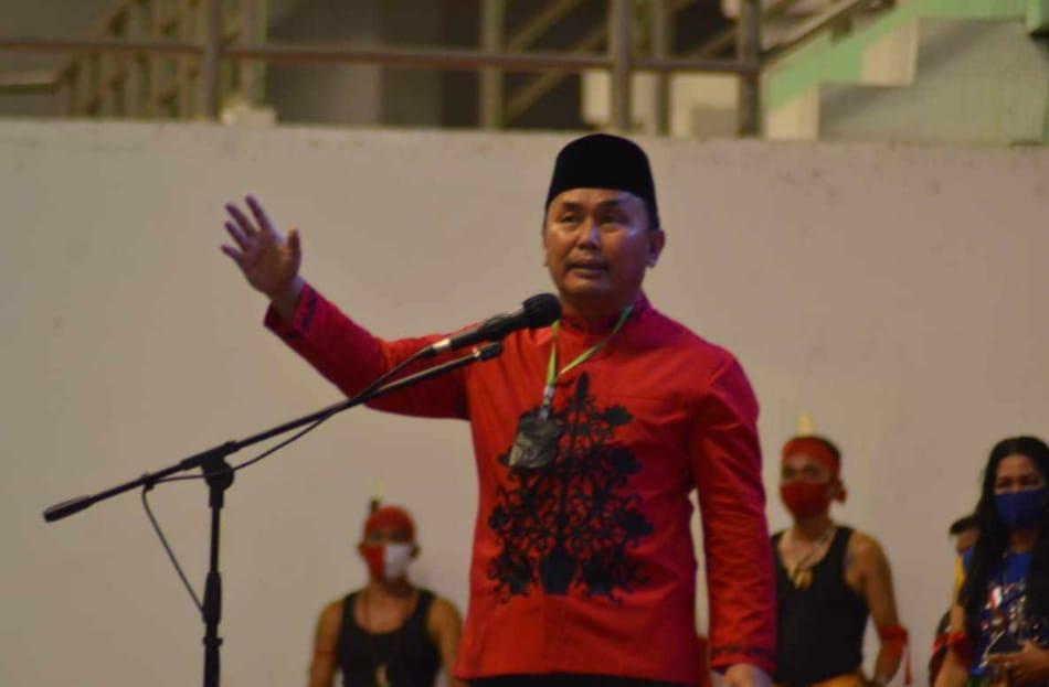 kongres I Dayak Lintas Kalteng, Dibuka Gubernur Kalteng H. Sugianto Sabran