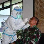 Perwira Korem 082/CPYJ Kembali Laksanakan Rapid Test Antigen
