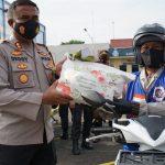 Kapolresta Mojokerto Berikan Bantuan Satu unit Sepeda Motor Beat Kepada RBC Relawan Birunya Cinta Yang Berdidikasi Tinggi.