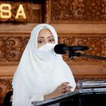 Ikfina Bupat Mojokerto Hadiri Peringatan Isra' Mi'raj 1442 H Tahun 2021 Di Masjid Agung Darussalam