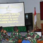 Pasiren Korem 082/CPYJ selenggarakan Sosialisasi Bimbingan Teknis E-Audit Itjenad