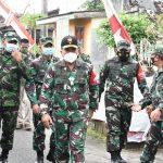 Kapok Sahli Pangdam V/Brawijaya Kunjungi Posko PPKM Mikro Di Mojokerto Raya