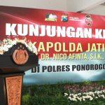 Kapolda Jawa Timur Irjen Pol Nico Afinta Kunjugan Kerja Ke Polres Ponorogo