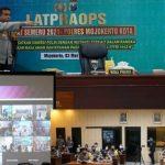 Kapolresta Mojokerto Gelar Latpra Ops Ketupat Semeru 2021 Secara Virtual