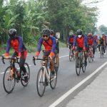Sejauh 97 KM, Kapolresta Mojokerto Gowes Menuju Masjid Namira Lamongan