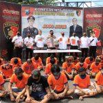 Ditreskrimum Polda Jatim Bersama Polres Jajaran, Meringkus 67 Premanisme Yang Biasa Beraksi di Wilayah Jatim