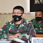 Kasiter Korem 082/CPYJ Ikuti Rapat Koordinasi Persiapan TMMD Ke 112 TA. 2021