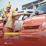 Wali Kota Mojokerto Ning Ita Bersama Kapolresta Melauching Mobil Masker