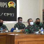 Danrem 082/CPYJ Ikuti Rapat Evaluasi Internal Penanganan Covid-19 Prov Jatim