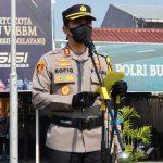 Irup Apel Gelar Pasukan Operasi Patuh Semeru 2021, Kapolresta Mojokerto : Empat Poin Sasaran Utamanya