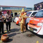 Walikota Didampingi Kapolres Bersama Forkopimda Launching Mobil Masker Polresta Mojokerto